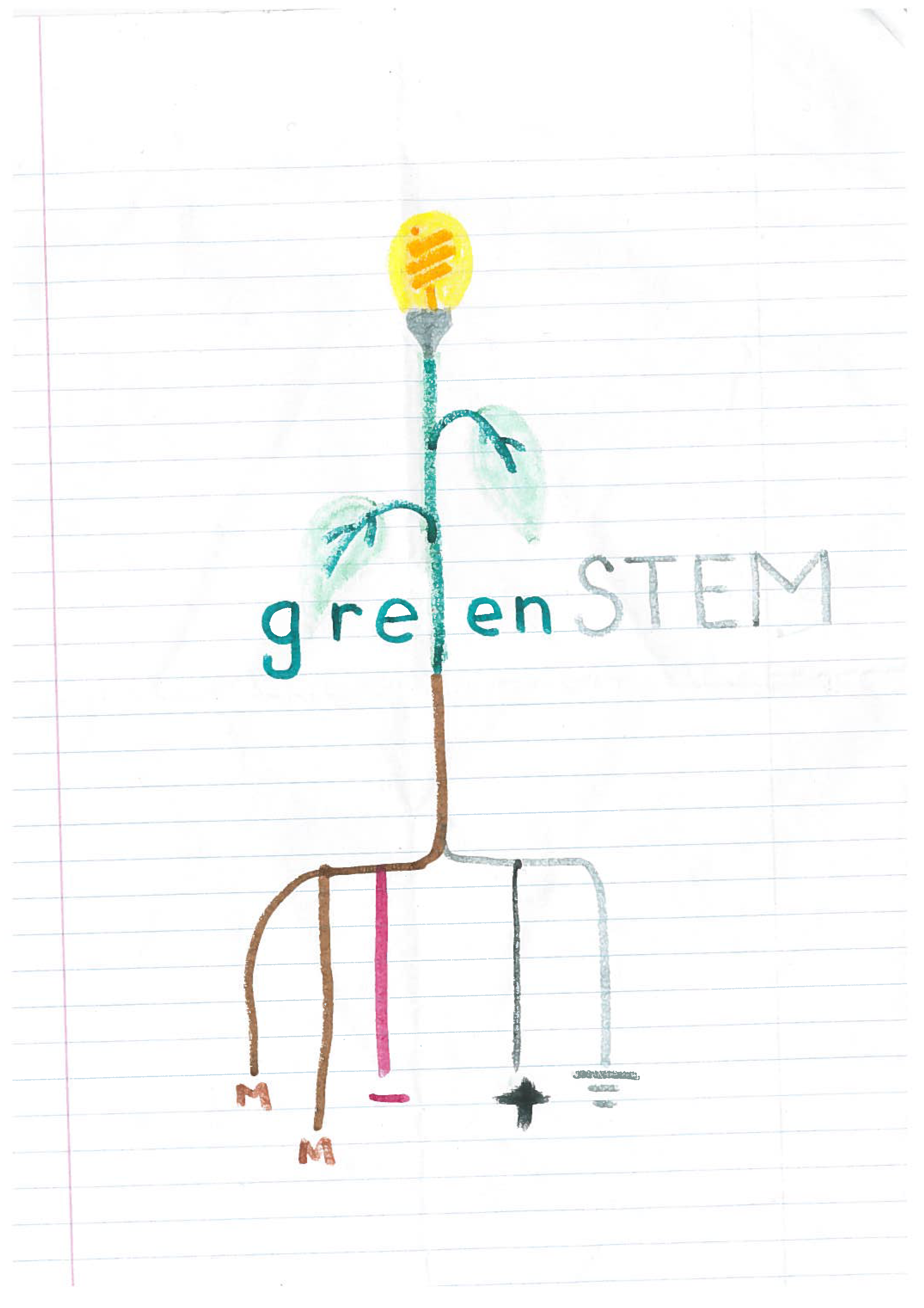 greenSTEM logo sketch